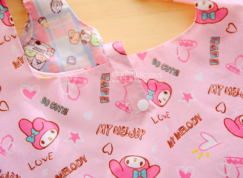 C02-Pink Hello Kitty Foldable Recycle Bag – XPinklicious 136f603000055