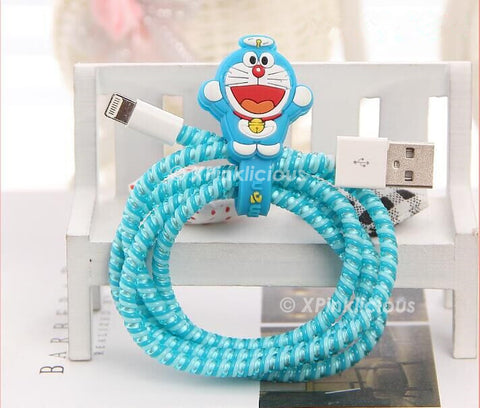 Doraemon Cable Protector with Cable Tie