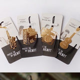 Bookmark - Korean Style Gold Music Series Bookmark / Teachers Day Gift / Children Day Gift Ideas / Kids Present / Christmas