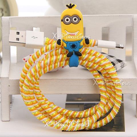 Minion Cable Protector with Cable Tie