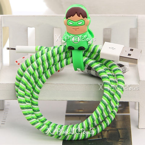 Green Hornet Cable Protector with Cable Tie