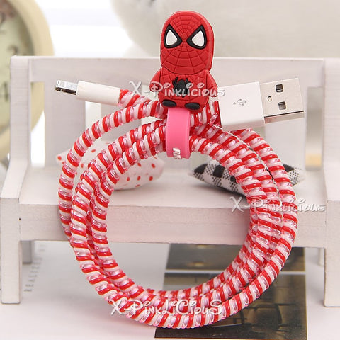 Spiderman Cable Protector with Cable Tie