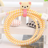 White Rilakkuma Cable Protector with Cable Tie