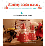 Standing Santa Claus Christmas Gift Card
