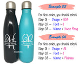 Personalised Name Print Water bottle / Customised Name Water Tumbler / Couple Gift / Birthday Present / Christmas Gift Ideas
