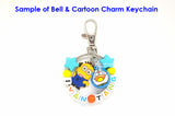 Customised Cartoon Ring Keychain Personalised Name Bag Tag / Teachers Day / Children Day Gift Ideas / Birthday Goodie Bag / Party Favors / Kids Present / Christmas