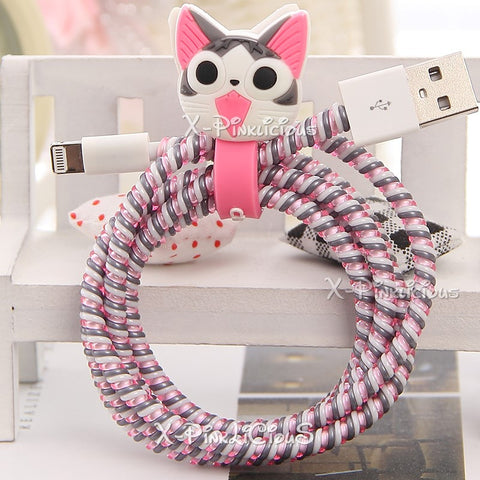 Grey Cat Cable Protector with Cable Tie