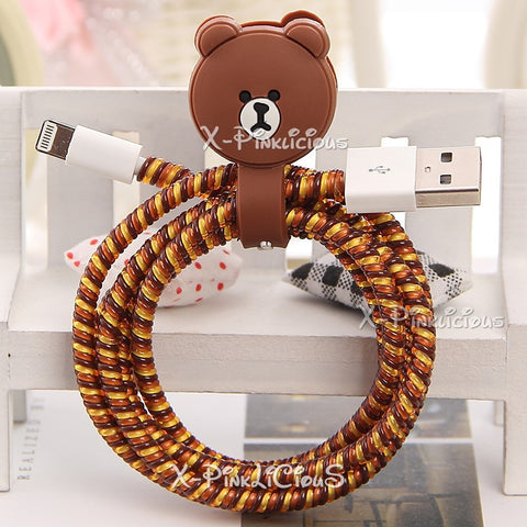 Line Brown Cable Protector with Cable Tie