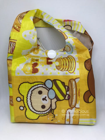 C10-Rilakkuma Foldable Recycle Bag / Tote Bag / Teachers Day / Children Day Gift Ideas / Birthday Goodie Bag / Party Favors / Kids Present / Christmas