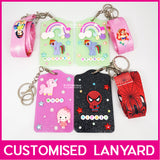 Customised Name Jelly Card Holder with Lanyard / Key Ring Tag  / Teachers Day / Children Day Gift Ideas / Kids Present / Christmas