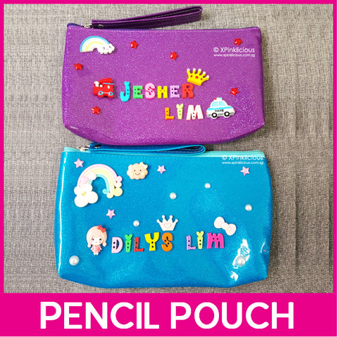 DIY Pencil Pouch / Pencil Box / Cosmetic Pouch / Customised Name / Pencil Case Phone Pouch