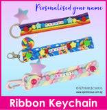 Handmade Name Ribbon Keychain / Customised Name Bag Tag / Teachers Day / Children Day Gift Ideas / Birthday / Kids Present / Christmas