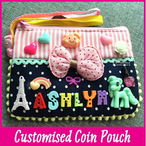 Customised DIY Personalised Coin Pouch / Teachers Day / Children Day Gift Ideas / Birthday Goodie Bag / Party Favors / Kids Present / Christmas