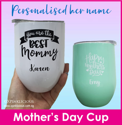 Mother's Day Designs / Customised Name Print Tumbler Cup / Christmas Gift Ideas / Stainless Steel Insulated Mug