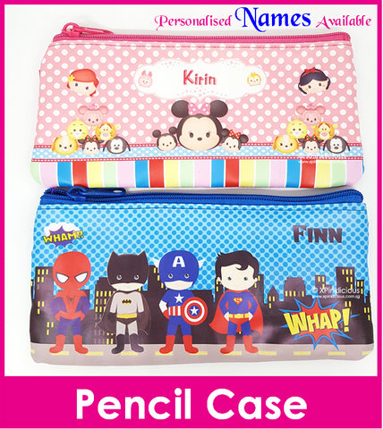 24pcs - Personalised Pencil Case with Name Printing / Birthday Goodie Bag / Gift Ideas / Party Present / Children Day