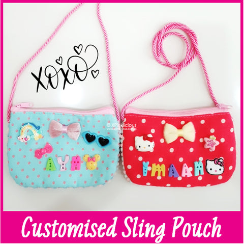 Customised DIY Personalised Sling Bag / Teachers Day / Children Day Gift Ideas / Birthday Goodie Bag / Party Favors / Kids Present / Christmas