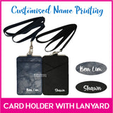 Customised Name Print Card Holder with Lanyard / Personalised Name Access Card Holder / Ezlink / Christmas Present / Teacher's Day Gift Ideas