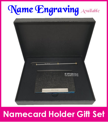Namecard Case Holder with Pen Gift Set (Design E )