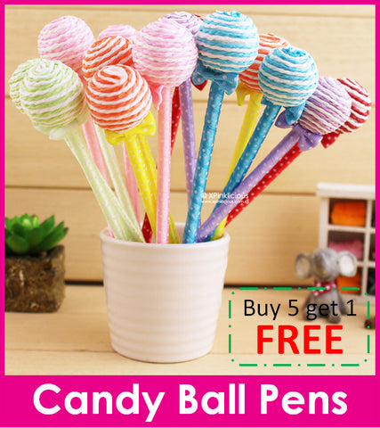 Candy Ball Pen / Teachers Day / Children Day Gift Ideas / Birthday Goodie Bag / Party Favors / Kids Present / Christmas