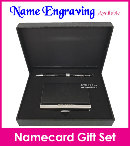 Namecard Case Holder with Pen Gift Set (Design A)
