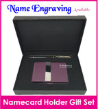 Namecard Case Holder with Pen Gift Set (Design D)