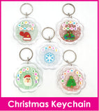 Christmas Personalised Crystal Name Keychain / Teachers Day / Children Day Gift Ideas / Birthday Goodie Bag / Party Favors / Kids Present / Christmas