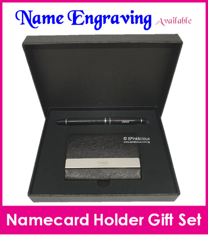 Namecard Case Holder with Pen Gift Set (Design C)
