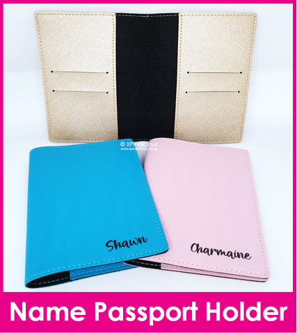 Customised Name Passport Holder / Personalised Name Print Passport Cover