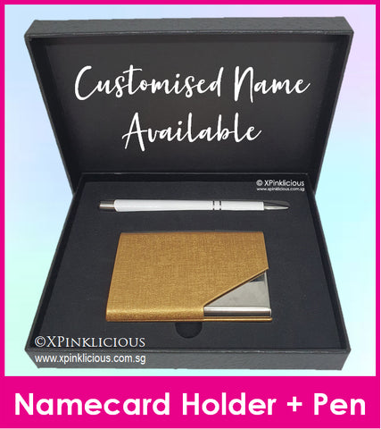 Namecard Case Holder with Pen Gift Set (DESIGN F)