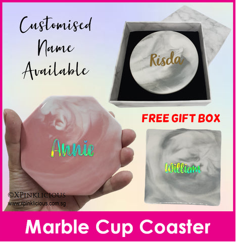 Customised Name Cup Coaster / Ceramic Mug Coaster / Christmas Gift / Teacher Day Present