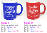 Customised Name Print Mug / Teachers Day Cup / Couple Gift / Christmas Gift Ideas