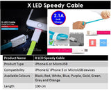 XLED 100cm iPhone USB Cable for SAMSUNG, OPPO, HTC AND ETC