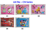 A4 File - Cartoon Net Series / Children Day Gift Ideas / Birthday Goodie Bag / Party Favors / Kids Present / Christmas