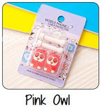 Pink Owl Cartoon Cable Protector