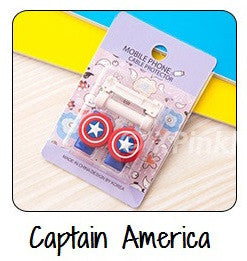 Captain America Cartoon Cable Protector