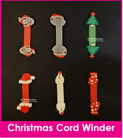 Christmas Cord Winder Cartoon Cable Tie