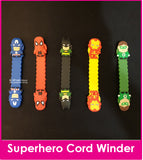 NEW Superhero (S) Cord Winder Cartoon Cable Tie