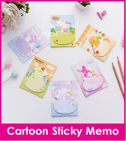 Cartoon Circle Sticky Memo Post IT Note / Teachers Day / Children Day Gift Ideas / Birthday Goodie Bag / Party Favors / Kids Present / Christmas