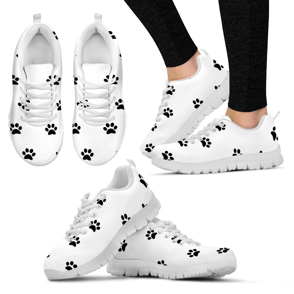 The Paw Life White Sneakers