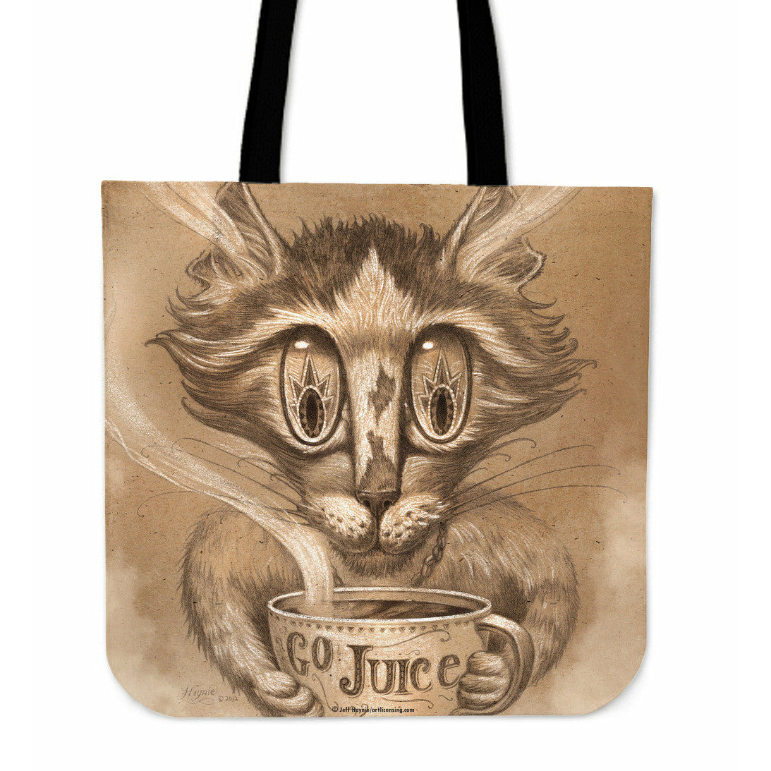 Purrfect Cat Totes - Sepia