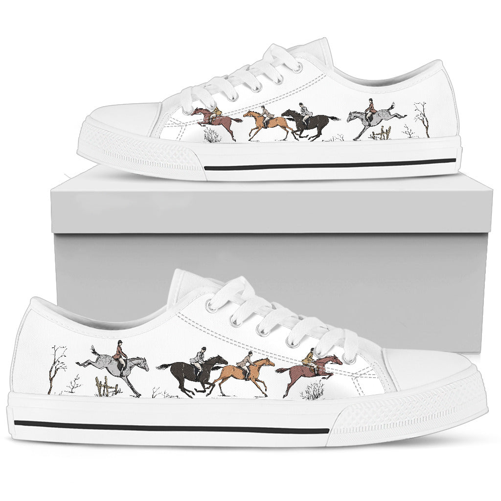 Horse Lovers White Low-Top