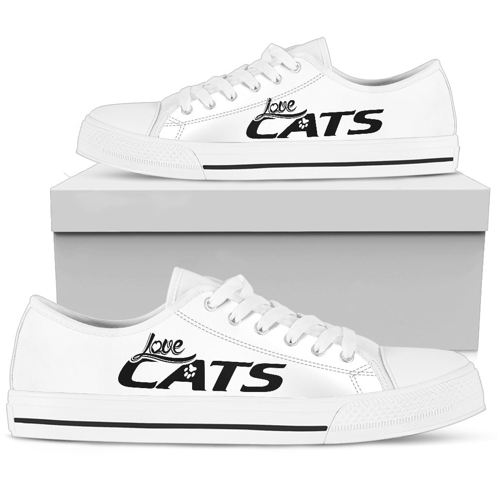 Cat Love - White Low-Top