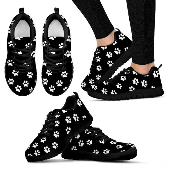 The Paw Life Black Sneakers