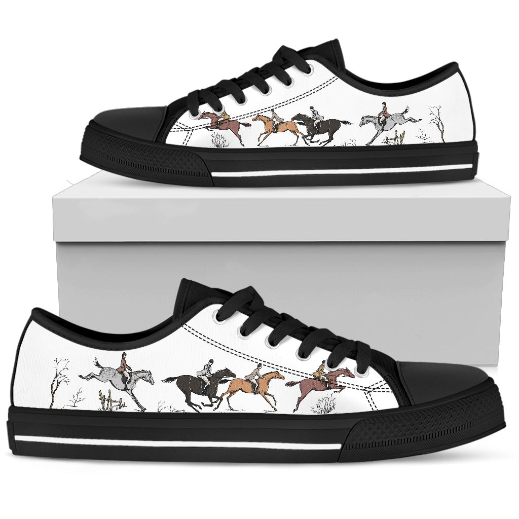 Horse Lovers Low-Top Black