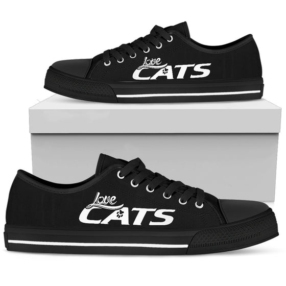 Cat Love - Black Low-Top
