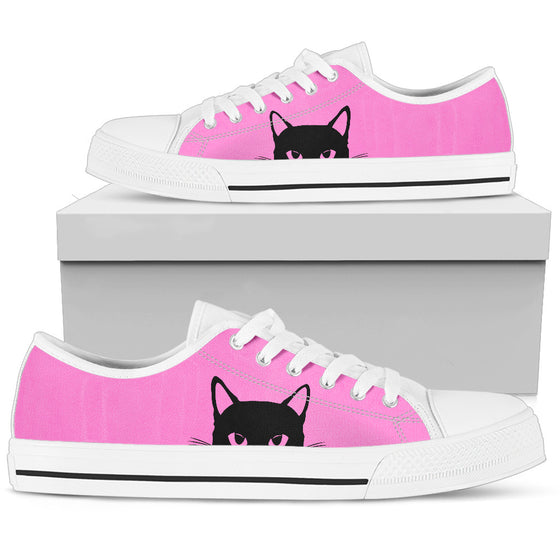 Sneaky Kitty - Pink Low-Top