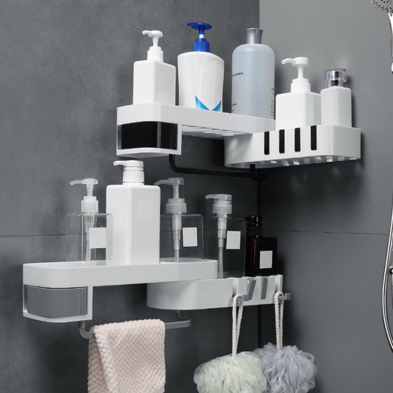 Nail-Free Instant Shower Shelf Space Saver