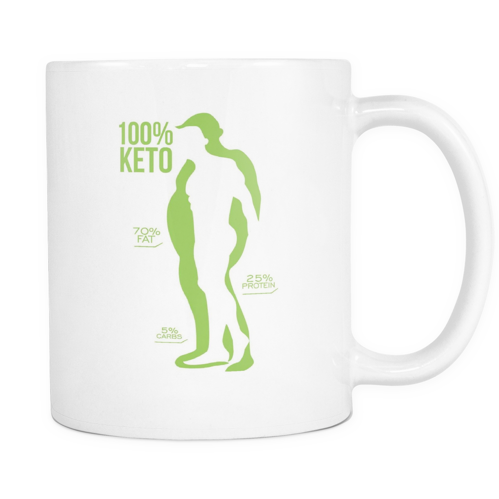 Mens Keto Mug (White)