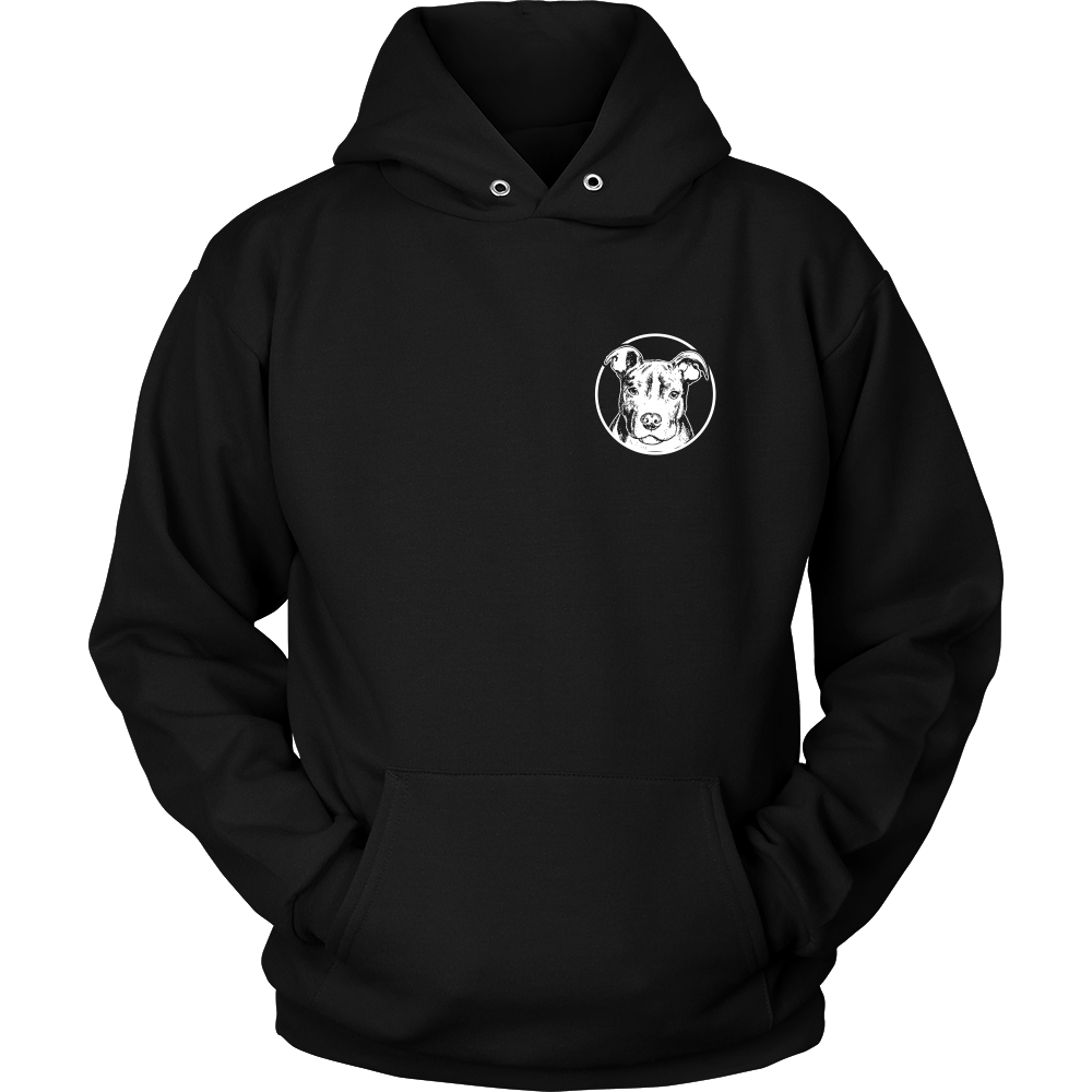 Two Sided Pitbull Passion Hoodie & Crewneck