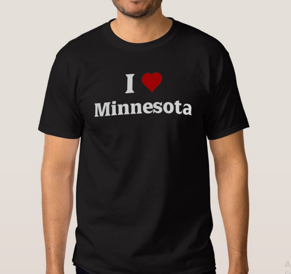 I Love Minnesota -Next Level Men's Premium Fitted CVC Crew